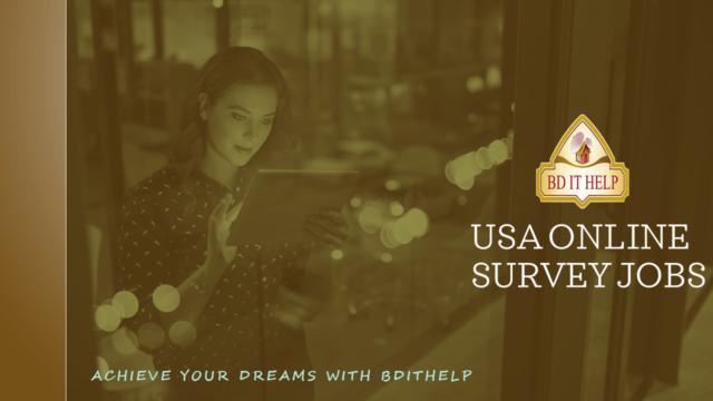 USA Online Survey Jobs